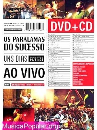 Os Paralamas Do Sucesso - Uns Dias Ao Vivo Dvd+Cd