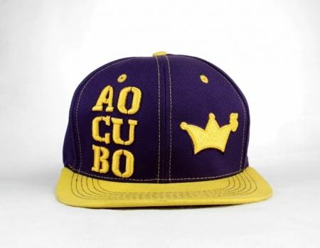 Bone Ao Cubo - Roxo E Amarelo Snapback
