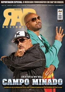 REVISTA RAP NACIONAL N 9 - CAPA DEXTER & MV BILL