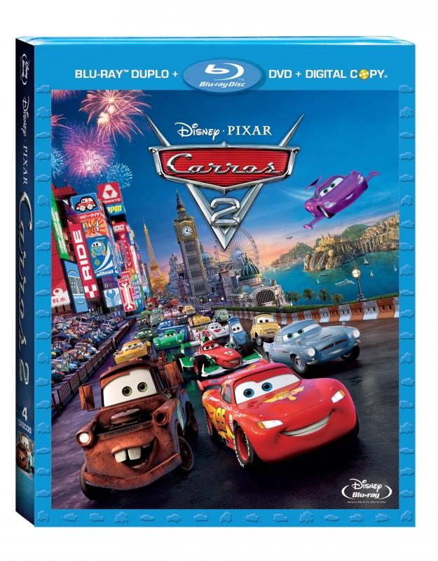 Carros 2 (Blu-ray duplo + DVD + Digital copy - 4 Discos)