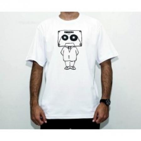 Camiseta Masculina - EMICIDA - Cabeça de fita - Branca