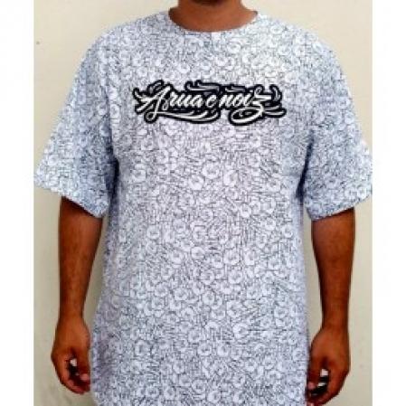 Camiseta Masculina - EMICIDA - A Rua é nóiz - Premium - Branca