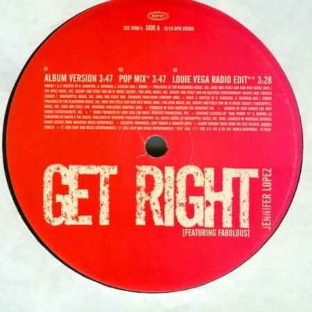 LP Jennifer Lopez - Get Right VINYL SINGLE