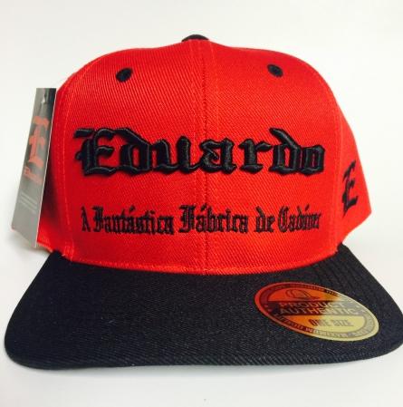 Bone Eduardo - A Fantastica fabrica de Cadaver ( Vermelho Com Aba Preta )
