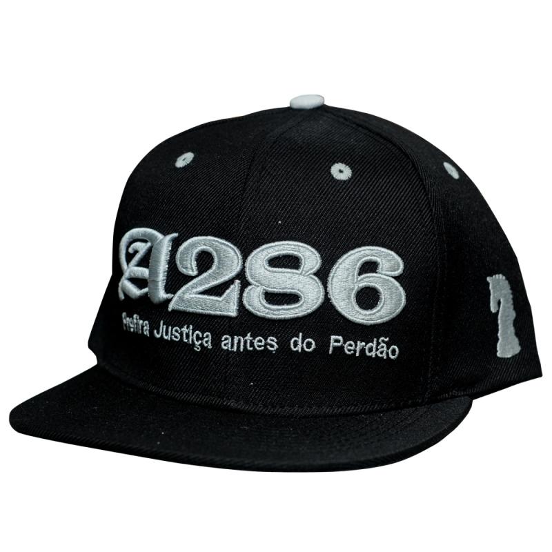 BONE A286 - PREFIRA JUSTIÇA ANTES DO PERDÃO PRETO E CINZA