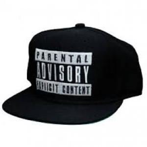 BONE PARENTAL ADVISORY EXPLICIT CONTENT - (PRETO COM BORDADO BRANCO SNAPBACK)