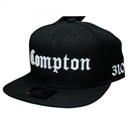 BONE COMPTON 1 - (PRETO COM BORDADO BRANCO SNAPBACK)