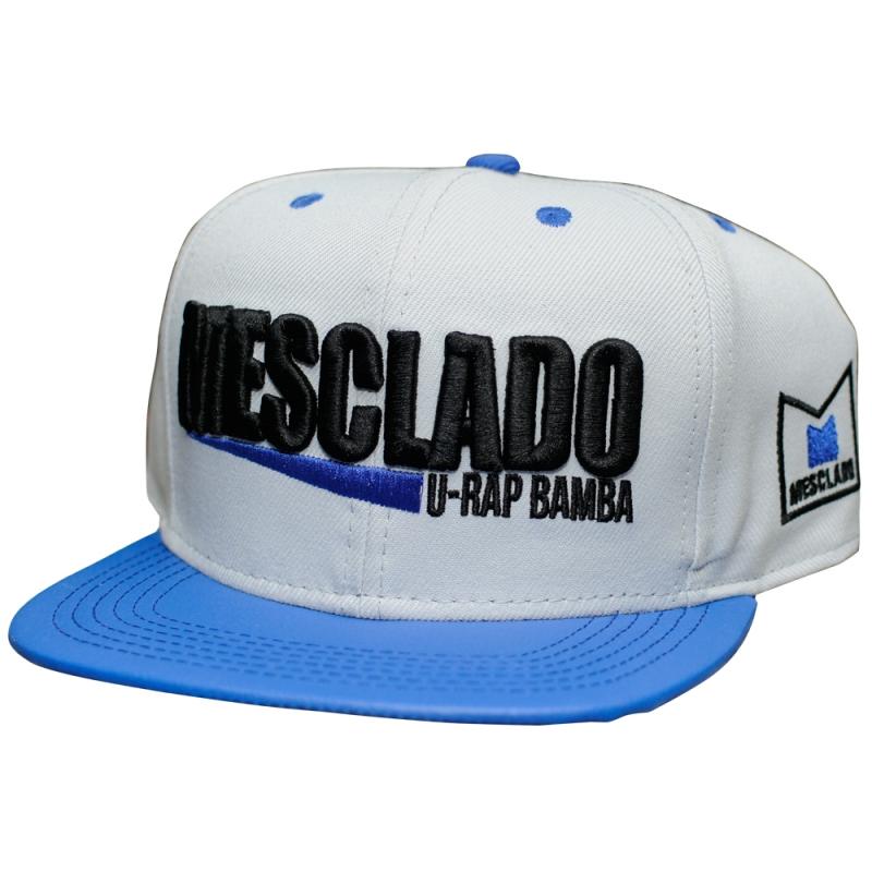 BONE MESCLADO - U-RAP BAMBA (CINZA / BORDADO PRETO)