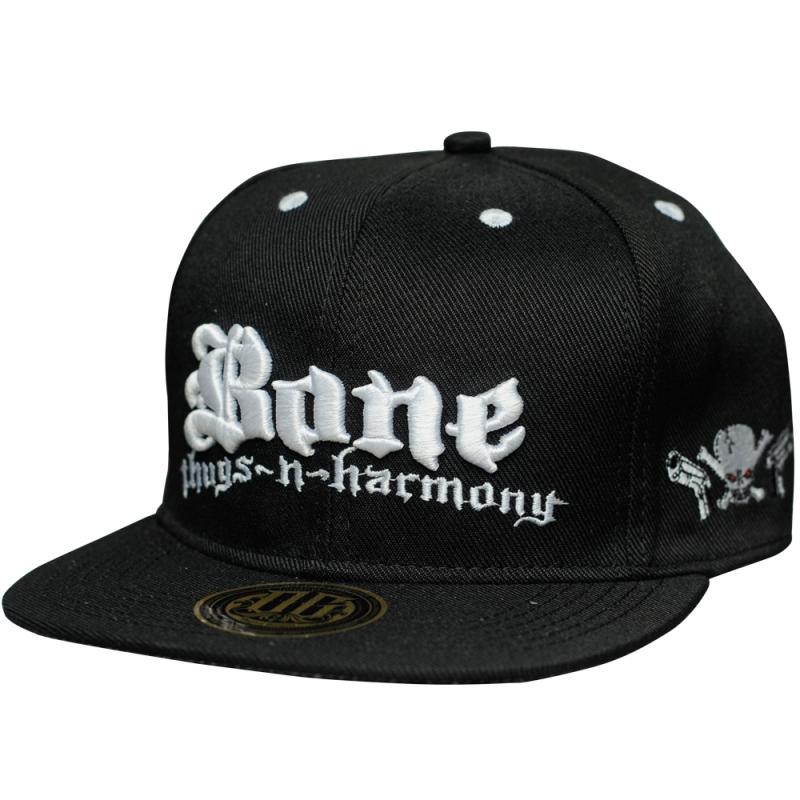 BONE THUGS-N-HARMONY BONE (PRETO / BORDADO BRANCO)