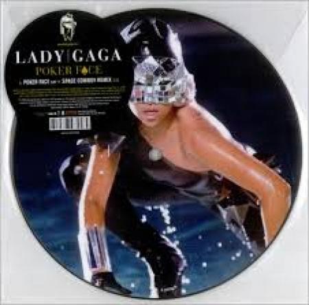LP LADY GAGA - POKER FACE VINYL 7 POLEGADAS PICTURE