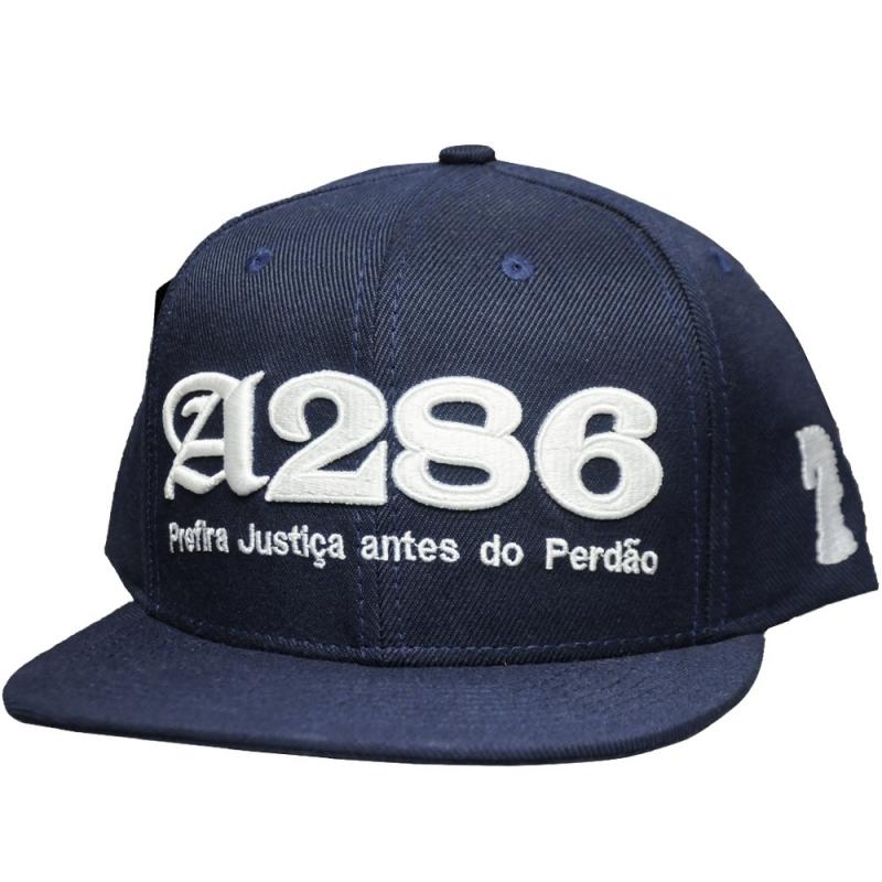 BONE A286 - PREFIRA JUSTIÇA ANTES DO PERDÃO AZUL ESCURO
