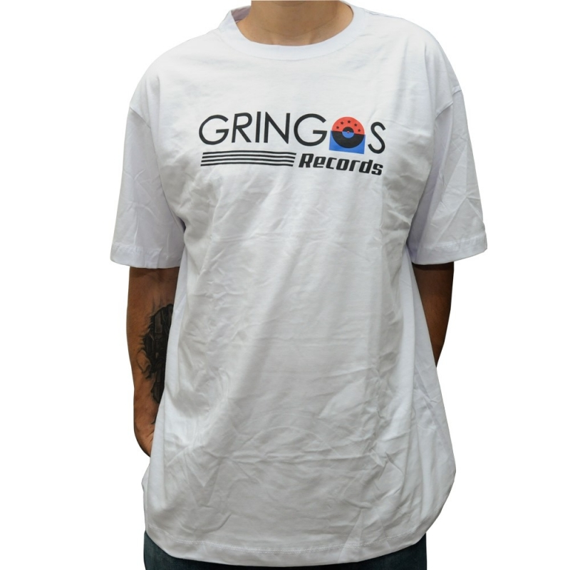 CAMISETA GRINGOS RECORDS BRANCA