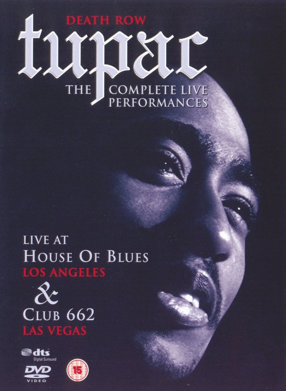 Tupac - The Complete Live Performances Death Row DVD DUPLO