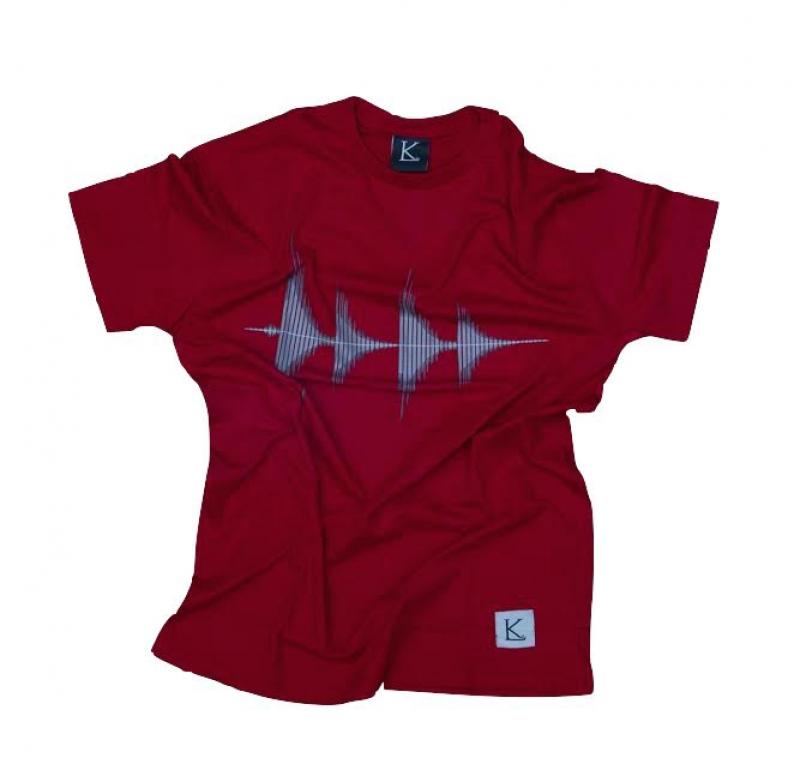 Camiseta KLJAY Som Wave (VERMELHA)