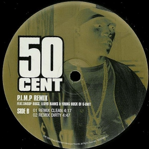 LP 50 Cent - P.I.M.P. Remix Vinyl Single Importado