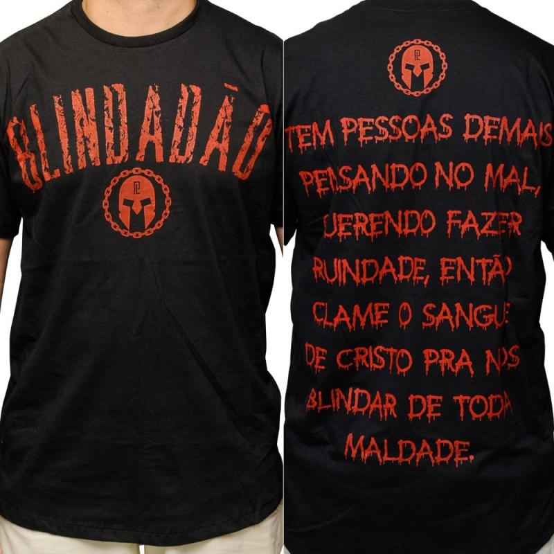 Camiseta Pregador Luo Blindadao 2 Preto C Escrita