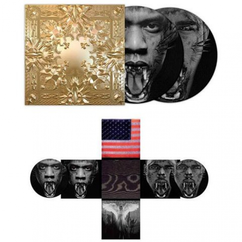 LP KANYE WEST & JAY-Z Watch The Throne (Double Picture Disc, Gold Embossed Edition w/ Poster) 2LP