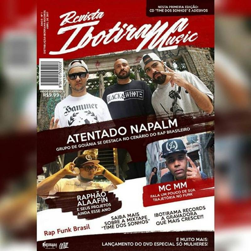 REVISTA IBOTIRAMA RECORDS + CD DE RAP NACIONAL E POSTER