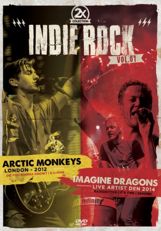 Collection 2X Indie Rock Vol. 1 - Arctic Monkeys e Imagine Dragons - DVD