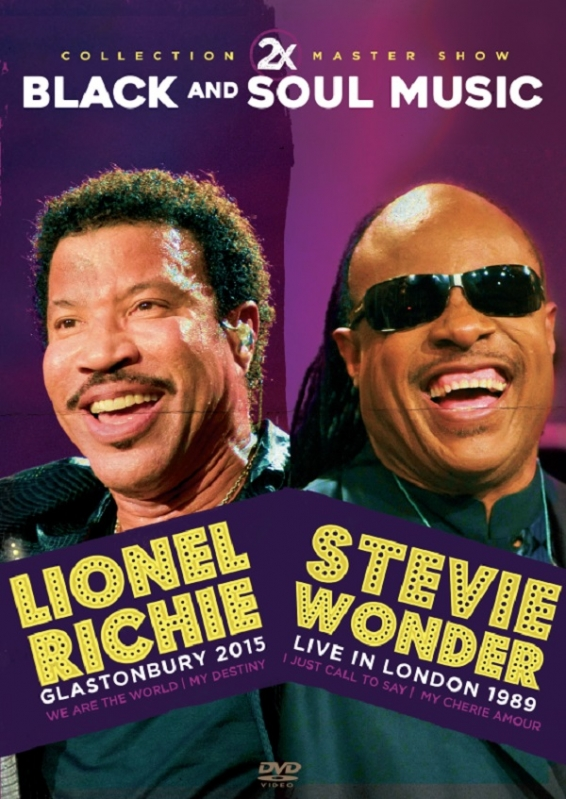 Lionel Richie & Stevie Wonder Collection 2X Master Show Black and Soul Music - DVD