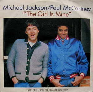 LP Michael Jackson  Paul McCartney ‎- The Girl Is Mine VINYL (7 POLEGADAS)