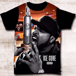 CAMISETA ICE CUBE - GANGSTA RAP
