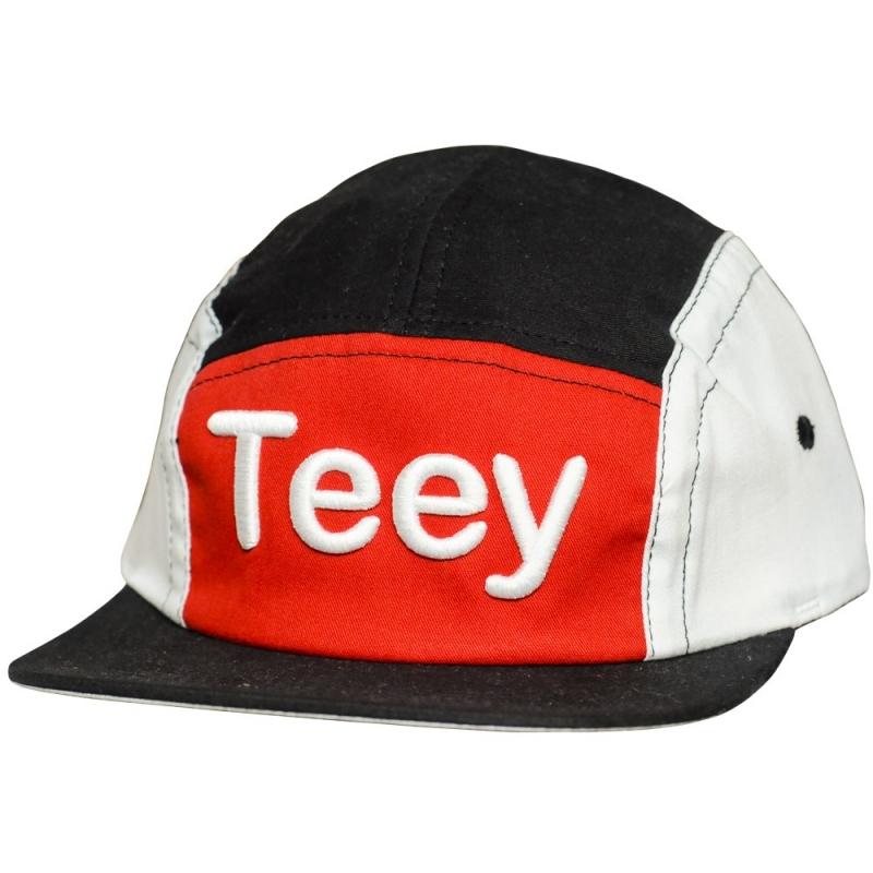 Bone Teey Preto, Vermelho e Branco com Aba Reta (BIG DA GODOY)