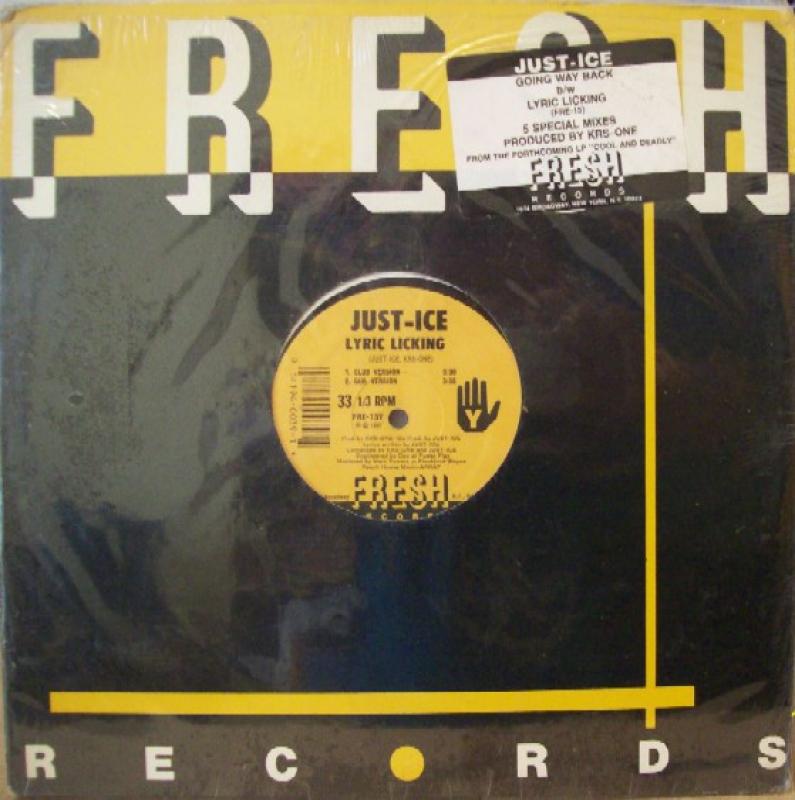 LP Just-Ice - Going Way Back / Lyric Licking VINYL (SEMI NOVO)