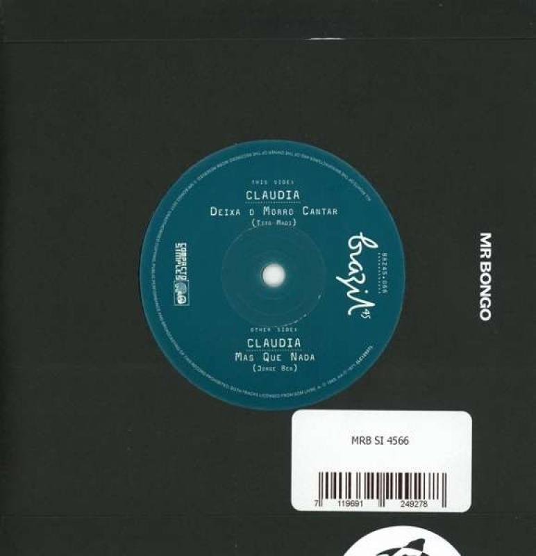 LP Claudia Diexa O Morro Cantar / Mas Que Nada VINYL (7 POLEGADAS)