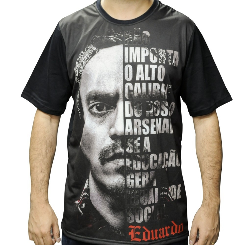 Camiseta Eduardo Capa Livro Frase Nao Importa O Alto