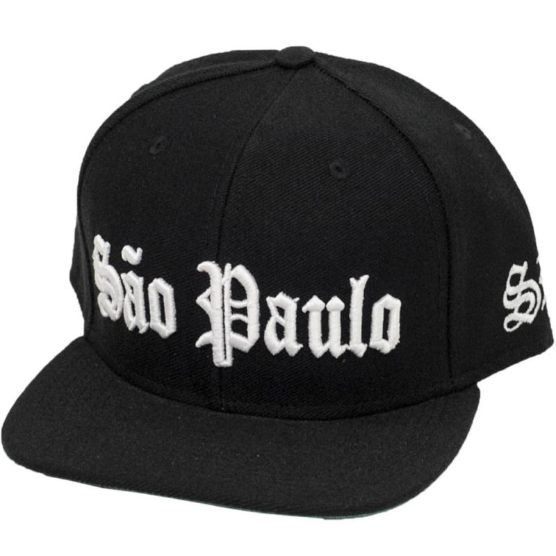 BONE SAO PAULO SP PRETO ESCRITA BRANCO