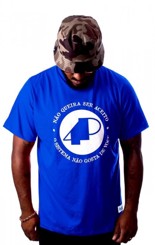Camiseta 4P Azul - NQSA Afronta