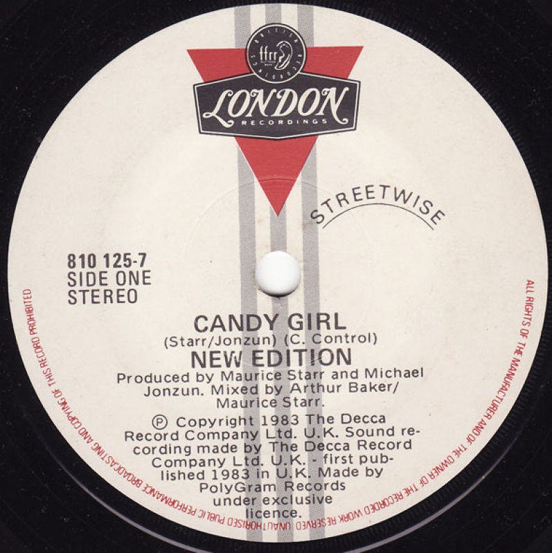 LP New Edition - Candy Girl COMPACTO 7 POLEGADAS