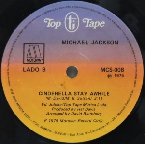 LP Michael Jackson - Cinderella Stay A While Happy VINYL COMPACTO 7 POLEGADAS