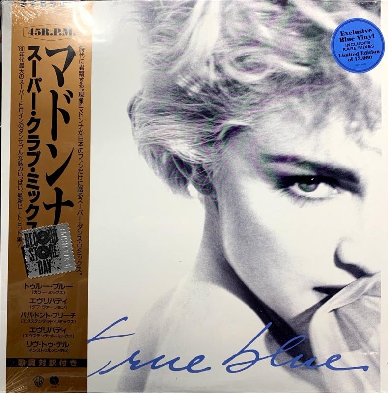 LP MADONNA - TRUE BLUE (SUPER CLUB MIX)(BLUE EP) 45RPM (RSD) VINYL AZUL LACRADO
