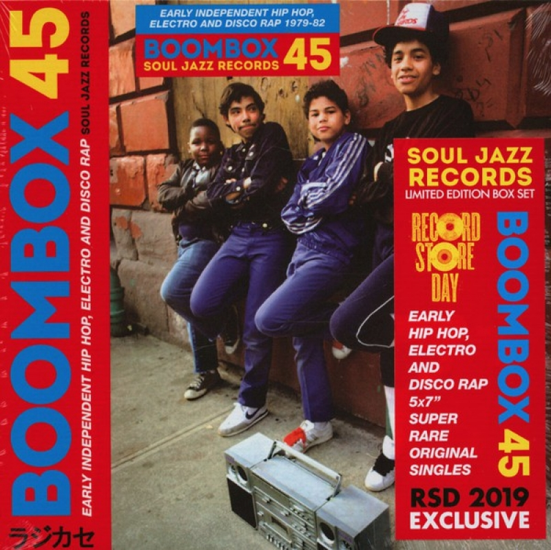 BOX Boombox - 45 Box Set  Early Independent Hip Hop Electro And Disco Rap 1979-82 VINYL COMPACTO 7