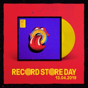 LP ROLLING STONES - SHES A RAINBOW (LIVE AT U ARENA PARIS 10 25 2017) (YELLOW 10 IN
