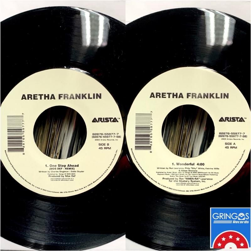 LP ARETHA FRANKLIN & MOS DEF - WONDERFULL & MS FAT BOOTY VINYL PRETO 7 POLEGAS