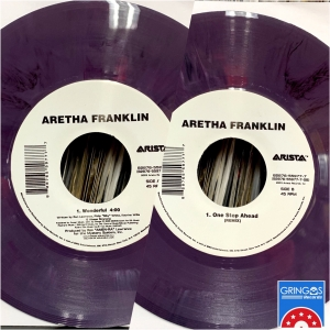 LP ARETHA FRANKLIN - WONDERFULL VINYL ROXO 7 POLEGAS