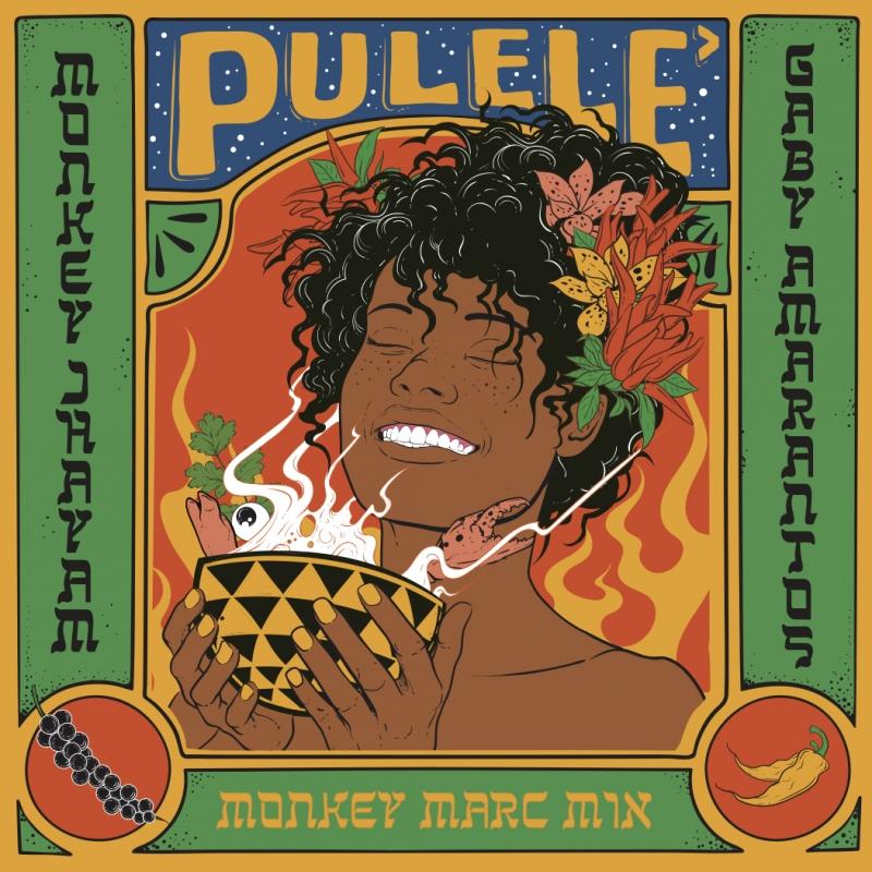 LP Monkey Jhayam - Gaby Amarantos Pulele VINYL COMPACTO 7 POLEGADAS
