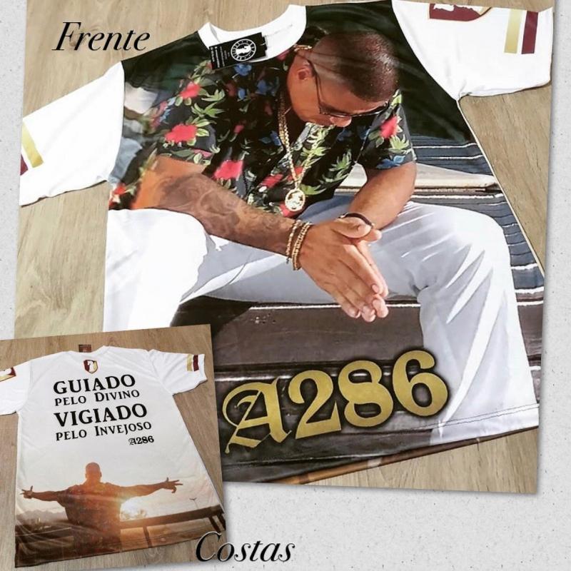 CAMISETA A286 GUIADO PELO DIVINO VIGIADO PELO INVEJOSO EDICAO LIMITADO