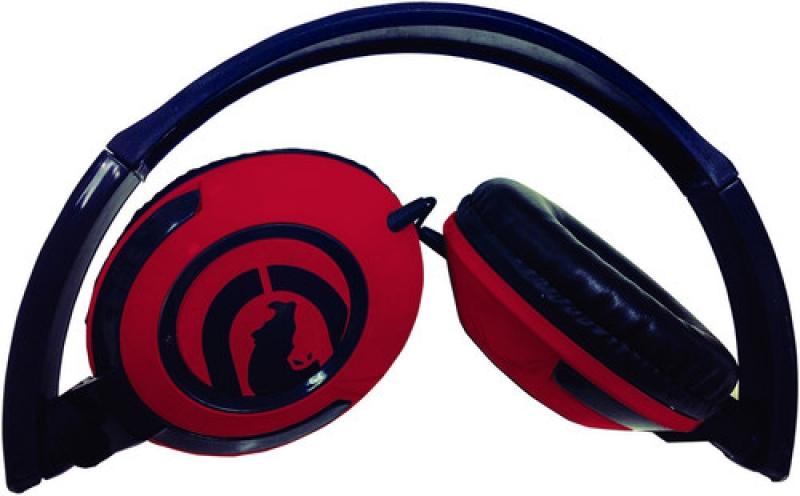 FONE ECKO EKUPLSRD PULSE Lightweight Headphones Foldable Mic Red