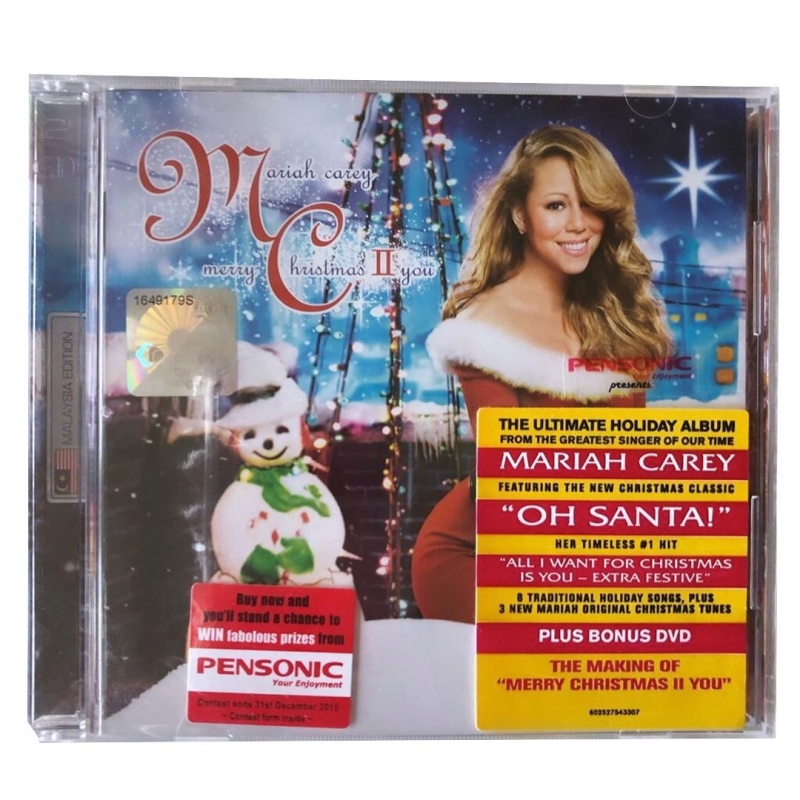 Mariah Carey - Merry Christmas Ii Edition Malaysia CD e DVD