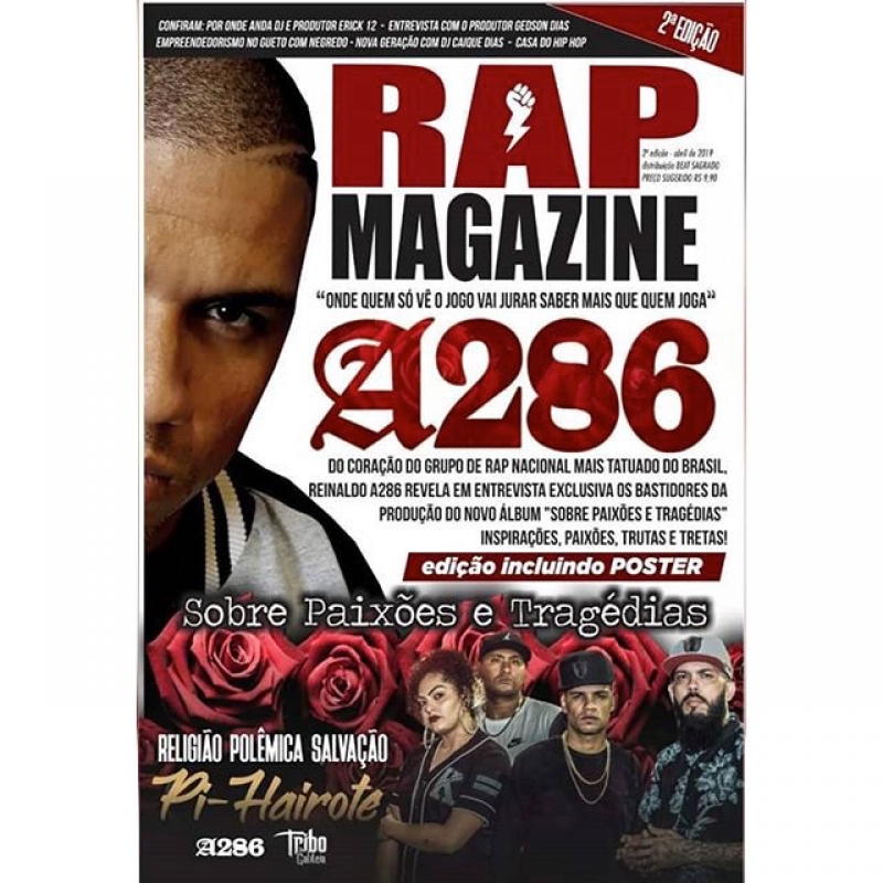 REVISTA RAP MAGAZINE 2 EDICAO CAPA REINALDO A286