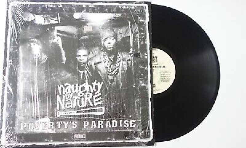 LP Naughty By Nature - Povertys Paradise VINYL IMPORTADO LACRADO INCLUINDO UM LP 7 POLEGADAS