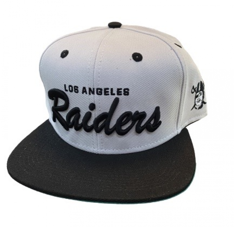 BONE LOS ANGELES RAIDERS - PRETO E BRANCO