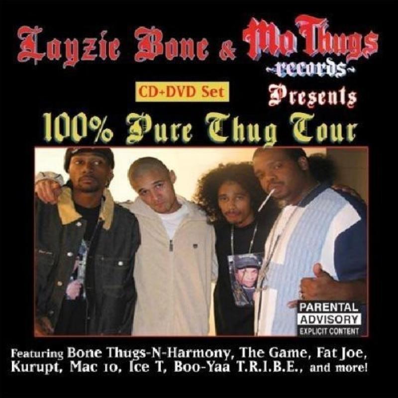 Layzie Bone e MO THUGS  - 100 PURE THUG TOUR CD E DVD IMPORTADO