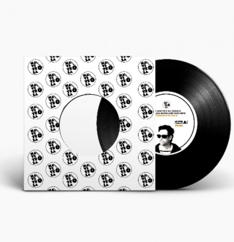 LP FAB SAMPERI E DJ FARRAPO FEAT FLORA MATOS E MC PAPO RETO - TRANQUILO NA ITALIA VINYL 7 POLEGADA