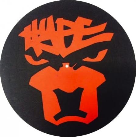 FELTROS DJ HYPE preto e vermelho (SLIPMATS)