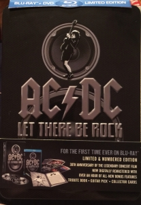 BOX AC DC - Let There Be Rock BLURAY  DVD (30th Anniversary Limited Edition)